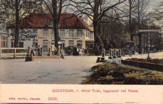 Ansichtkaart Soestdijk Hotel Trier, tegenover het Paleis HC6795