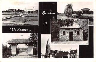 Ansichtkaart Veldhoven Groeten uit Zwembad Blokhut R.K. Kerk Kinderhuis St. Jozef HC6797