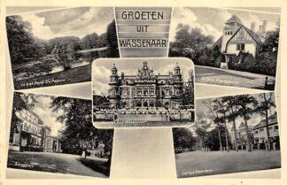 Ansichtkaart Wassenaar Groeten uit 1935 Vijfluik Den Haag HC6874