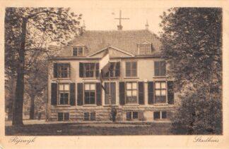 Ansichtkaart Rijswijk (ZH) Stadhuis met vlag 1925 Den Haag HC6879