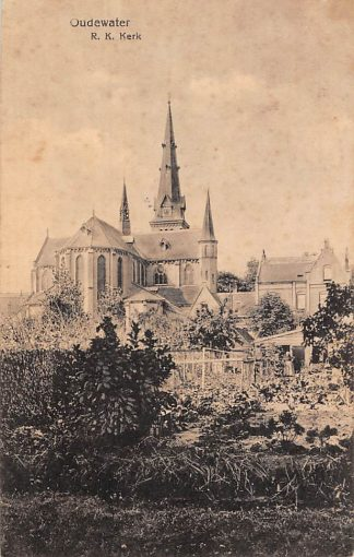 Ansichtkaart Oudewater R.K. Kerk 1922 HC6894