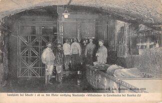 Ansichtkaart Terwinselen bei Heerlen Laadplats bei Schacht 1 ob ca. 200 meter verdiping Staatsmijn Wilhelmina Mijn 1910 HC6923