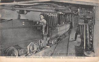Ansichtkaart Terwinselen bei Heerlen Ondergrondsch Vervoer met Benziene locomotieven Staatsmijn Wilhelmina 1910 Mijn HC6924