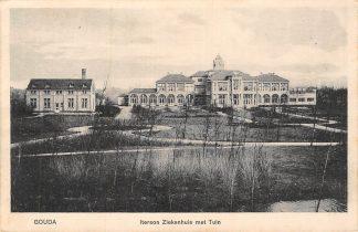 Ansichtkaart Gouda Iterson Ziekenhuis met Tuin 1913 HC6933