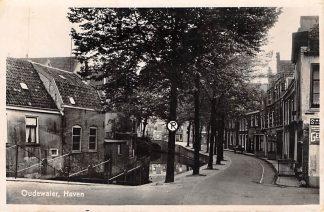 Ansichtkaart Oudewater Haven Militair verzonden HC6936