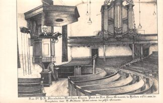 Ansichtkaart Holten 1928 Fotokaart Opname van een afscheidstekening geschonken aan Ds. Steenbakker Moriylion Loysen Predikant der Ned. Herv. Gemeente van 1903-1928 HC6958