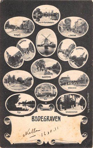 Ansichtkaart Bodegraven 14 afbeeldingen HC6976