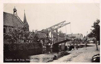 Ansichtkaart Nieuwerbrug aan de Rijn Gezicht op de brug Tol Type fotokaart HC6981
