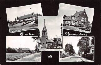 Ansichtkaart Nieuwerbrug aan de Rijn Groeten uit Rijksstraatweg Rijn brug Tol Bgr. Bruntstraat HC6983