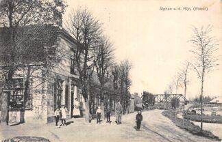 Ansichtkaart Alphen aan den Rijn Steekt met Spoorbrug Spoorwegen 1918 HC6988