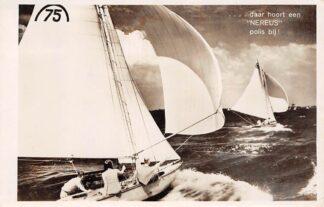 Ansichtkaart Amsterdam Reclame Verzekerings Maatschappij Nereus Schepen Zeilen 1943 HC7031