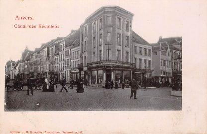Ansichtkaart Anvers Antwerpen Canal des Recollets België HC7038