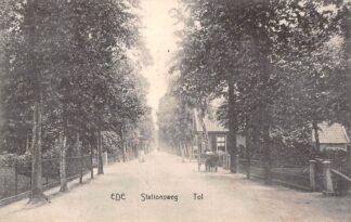 Ansichtkaart Ede Stationsweg Tol en Hondenkar 1907 HC7068