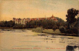 Ansichtkaart Gouda Van Bergen IJzendoorn park en Van Beverninglaan 1909 HC7072