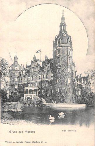 Ansichtkaart Muskau O.-L. Gruss aus Das Schloss Duitsland Deutschland HC7083