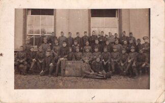 Ansichtkaart Gouda Kazerne Fotokaart Soldaten Comp. 4 Sec. Militair verzonden 1916 HC7103