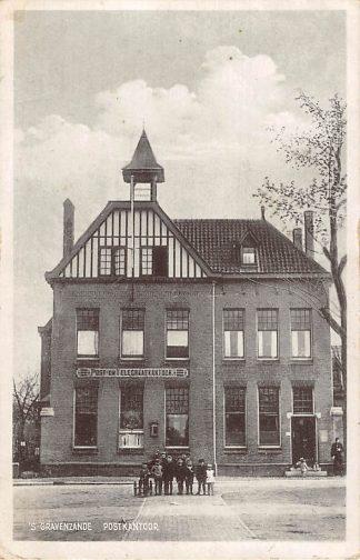 Ansichtkaart 's-Gravenzande Postkantoor 1935 HC7109