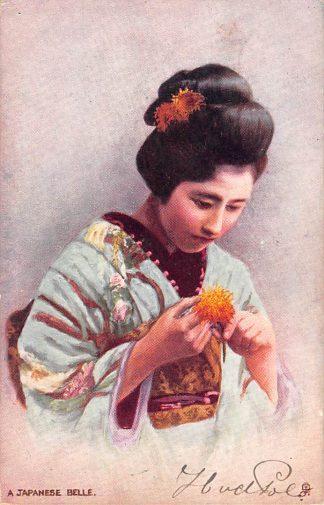 Ansichtkaart Japan A Japanese Belle Klederdracht 1904 Azië HC7125