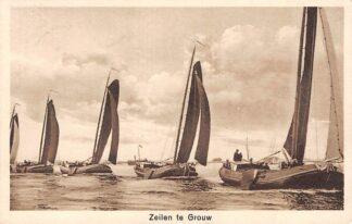Ansichtkaart Grouw Zeilen 1933 Binnenvaart schepen Scheepvaart HC7130