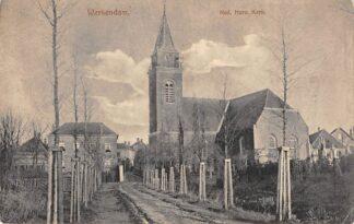 Ansichtkaart Werkendam Ned. Herv. Kerk Militair verzonden 1915 HC7138