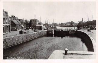 Ansichtkaart Zwartsluis Kolksluis Slsuis Binnenvaart schepen Scheepvaart 1951 HC7145