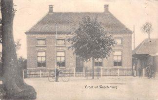 Ansichtkaart Waardenburg Groet uit Betuwe Kleinrondstempel Buren (GD)1907  Filatelie HC7150