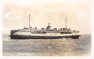 Ansichtkaart Vlissingen Breskens Veerboot Koningin Juliana 1952 Veer pont Scheepvaart Schepen HC7153