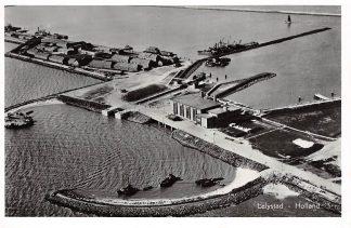 Ansichtkaart Lelystad Flevoland Luchtfoto Sluis en Gemaal 1957 HC7154