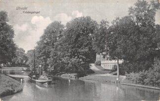 Ansichtkaart Utrecht Tolsteegsingel met binnenenvaart schip Scheepvaart Schepen 1909 HC7169