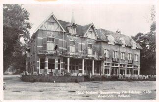Ansichtkaart Apeldoorn Reclame Hotel Restaurant Nieland Soerenseweg 73 1952  HC7172