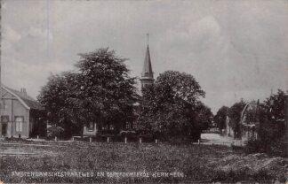Ansichtkaart Ede Amsterdamschestraatweg en Gereformeerde Kerk 1910 HC7195