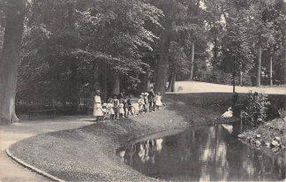 Ansichtkaart Dordrecht Park Merwestein met kinderen 1913 HC7197