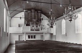 Ansichtkaart Groot Ammers Ned. Hervormde Kerk Interieur met orgel HC7203