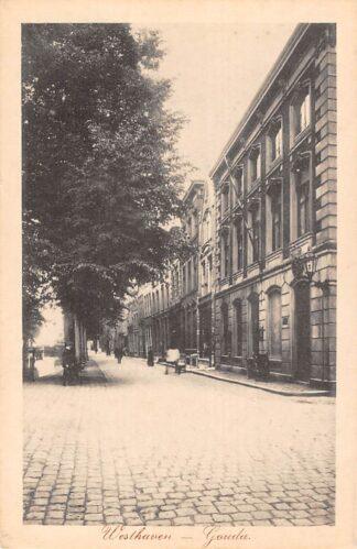 Ansichtkaart Gouda Westhaven met Postkantoor 1917 HC7206