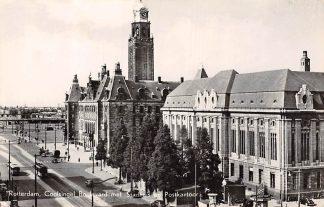 Ansichtkaart Rotterdam Coolsingel Boulevard met Stadhuis en Postkantoor RET Tram en Bus HC7221