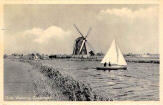 Ansichtkaart Oude Wetering Googermolen met zeilschepen Molen 1953 HC7229