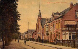 Ansichtkaart Hillegom Stationsweg met Gereformeerde Kerk HC7238