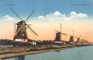 Ansichtkaart Rotterdam Molens aan de Boezem Molen 1918 HC7245