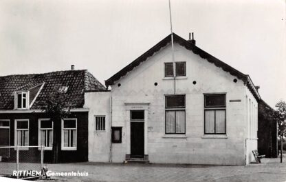 Ansichtkaart Ritthem Gemeentehuis Vlissingen HC7251