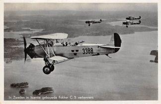 Ansichtkaart Vliegtuigen 1937 In Zweden in licentie gebouwde Fokker C. 5 verkenners HC7257