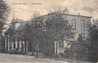 Ansichtkaart Zuidbroek Hotel Bouman 1919 HC7289