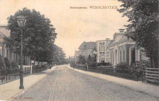 Ansichtkaart Winschoten Stationstraat 1919 Tulp HC7290