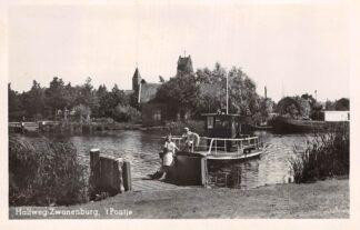 Ansichtkaart Halfweg Zwanenburg 't Pontje Veer pont 1952 HC7300