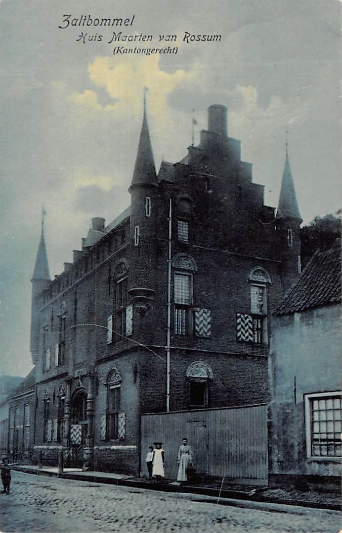 Zaltbommel 1909 Huis Maarten Van Rossum Kantongerecht Hc7327 House Of Cards