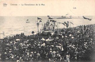 Ansichtkaart België Oostende La Benediction de la Mer 1912 De zegening van de zee HC7332