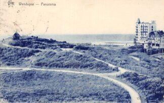 Ansichtkaart België Wenduine Panorama 1933 Speciaal stempel Filatelie HC7336