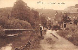 Ansichtkaart België Yvoir Le Bocq Sport visser Namur Namen HC7344