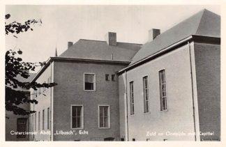 Ansichtkaart Echt Limburg Cisterciënzer Abdij Lilbosch Zuid en Oostzijde met Kapittel 1956 HC7349