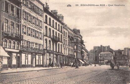 Ansichtkaart Frankrijk Boulogne-sur-mer Quai Ganbetta Hotel de Londres France HC7353