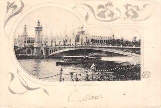 Ansichtkaart Frankrijk Paris 1902 Le Pont d'Alexander France HC7354